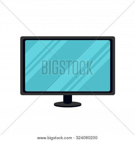 Modern Television Icon In Flat Style. Television Isolated On White Background. Vector Stock.
