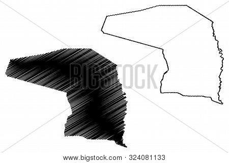 Alto Paraguay Department (departments Of Paraguay, Republic Of Paraguay) Map Vector Illustration, Sc
