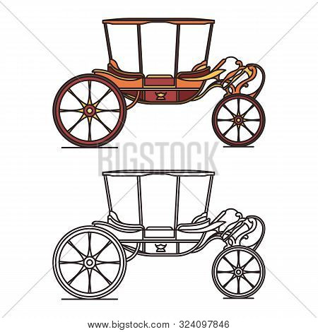 Old Carriage For Marriage, Wedding Vintage Chariot