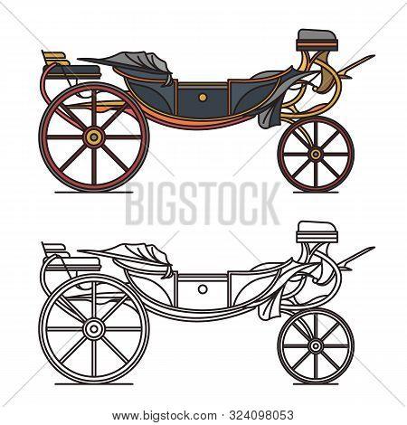 Retro Cab Or Vintage Carriage, Medieval Chariot