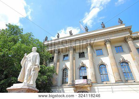 Berlin Germany - June 7, 2019: Humboldt University Berlin Germany