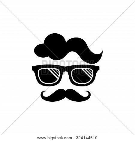 Cool Geek Guy Nerd Vector Logo Design Template, Geek Logo Vector. People Logo Vector. Geek Logo Temp