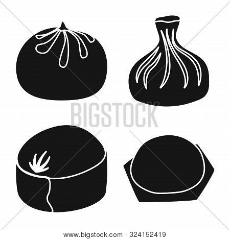 Vector Illustration Of Cuisine And Appetizer Sign. Collection Of Cuisine And Food Vector Icon For St