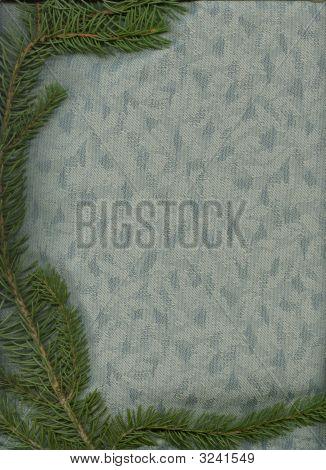 Blue Spruce On Bluegrey Fabric