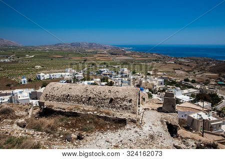View From The Ruins Of The Castle Of Akrotiri Also Known As Goulas Or La Ponta, A Former Venetian Ca