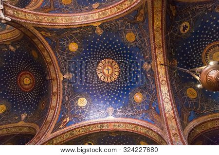 Jerusalem, Israel. Church Of All Nations Or The Basilica Of The Agony On The Mount Of Olives. Fragme