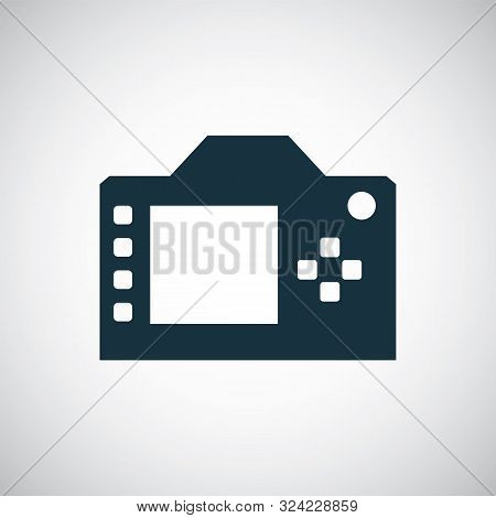 Dslr Icon For Web And Ui On White Background