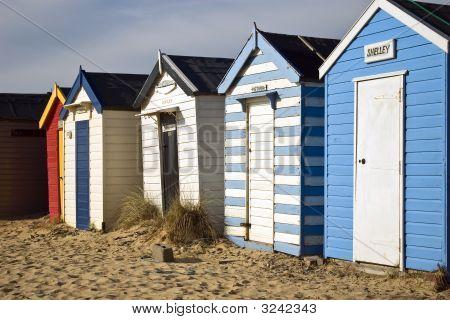 Colourful beach huts at South Beach