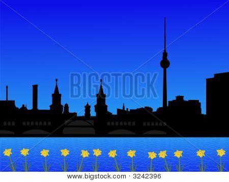 Berlin Skyline In Spring