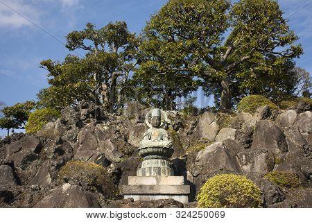Guanyin Or Guan Yin Bodhisattva Goddess Statue In Daitou Great Peace Pagoda Of Naritasan Shinshoji T