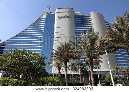 Dubai, Uae - November 23, 2017: Jumeirah Beach Hotel In Dubai. The Hotel Was Designed By British Com