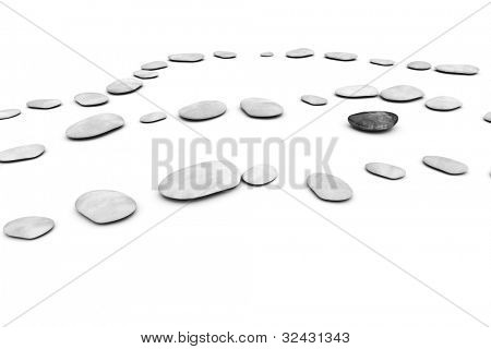 An image of some nice pebbles on a white background