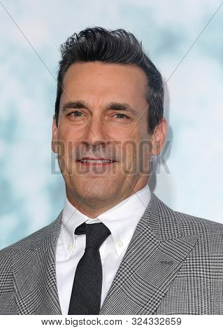 actor Jon Hamm at the Los Angeles premiere of 'Lucy In The Sky' held at the Darryl Zanuck Theate in Los Angeles, USA on September 25, 2019.