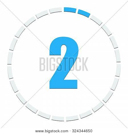 Progress, Completion, Step Indicator. Segmented Circle As Duration, Sequence, Steps Infographics Ele