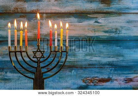 Jewish Holiday Symbol Star Of David Hanukkah Menorah Hanukkah,