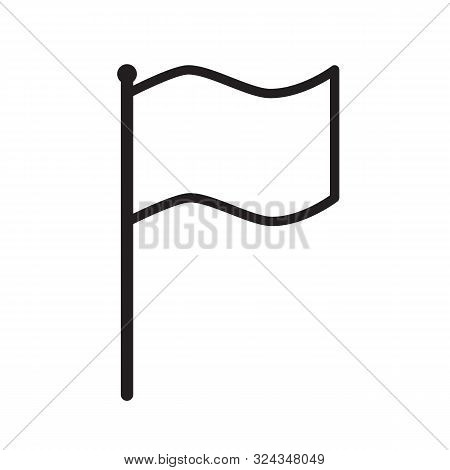 Flag Icon On White Background. Flat Style. Flag Icon For Your Web Site Design, Logo, App, Ui. Simple