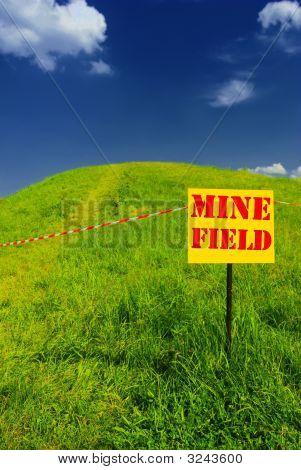 Green Hill Idyllic Landscape And Mine Field Plate