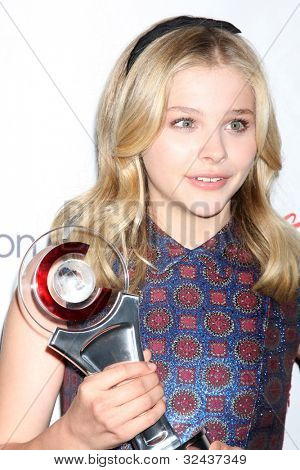 LAS VEGAS - APR 26:  Chloe Grace Moretz arrives at the CinemaCon 2012 Talent Awards at Caesars Palace on April 26, 2012 in Las Vegas, NV