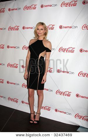 LAS VEGAS - APR 26:  Charlize Theron arrives at the CinemaCon 2012 Talent Awards at Caesars Palace on April 26, 2012 in Las Vegas, NV