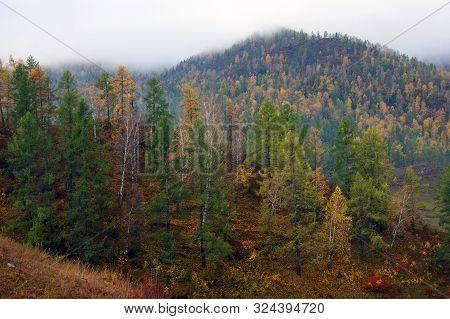 Beautiful Landscape Early Morning In Mountain Terrain