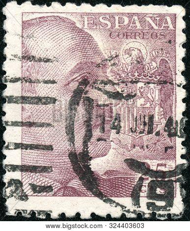 Vintage Stamp Printed In Spain 1939 Shows General Franco