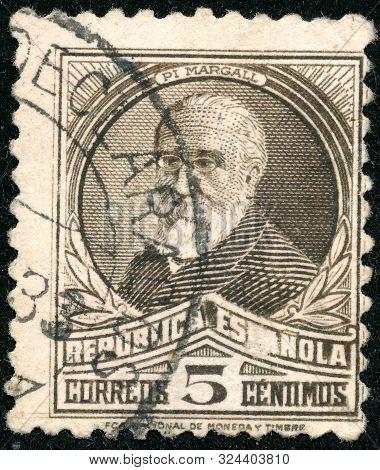 Vintage Stamp Printed In Spain 1931 Shows Francesc Pi I Margall