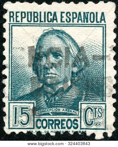 Vintage Stamp Printed In Spain 1934 Shows Concepcion Arenal