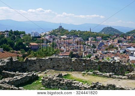 Plovdiv, Bulgaria, August 22, 2019 :   View Of Plovdiv (european Capital Of Culture In 2019) From Ne