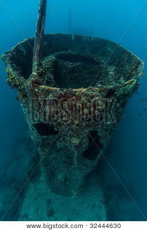 Smokestack on USCGC Duane in Key Largo Florida