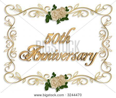 Golden Anniversary 50 Years Invitation Card