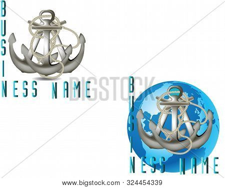 Naval Anchor Symbol With Earth   Naval Anchor Symbol With Earth