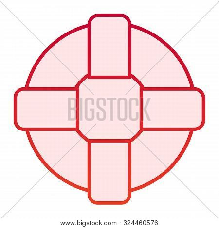 Lifebuoy Flat Icon. Life Ring Red Icons In Trendy Flat Style. Lifesaver Gradient Style Design, Desig