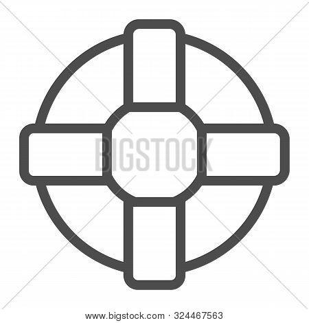 Lifebuoy Line Icon. Lifesaver Vector Illustration Isolated On White. Life Ring Outline Style Design,