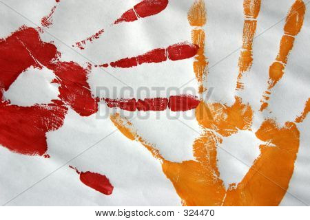 Red And Orange Hand