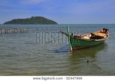Fisherman Boat At Rabbit Island