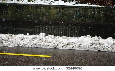 Snowy Road Side