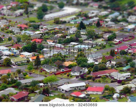 Tiltshift cityscape