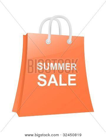 Shopping Bag. Summer Sale. Vector Illustration