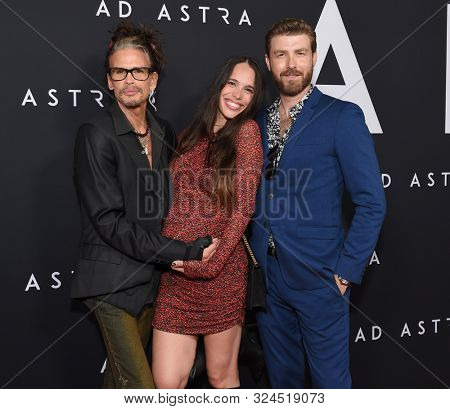 LOS ANGELES - SEP 18:  Steven Tyler, Chelsea Tyler and Jon Foster arrives for 'Ad Astra' Special Screening on September 18, 2019 in Hollywood, CA