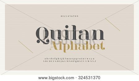 Elegant Alphabet Letters Font And Number. Classic Copper Lettering Minimal Fashion Designs. Typograp