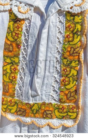 Detail From Traditional Romanian Folk Costume For Man, Specific On Bistrita-nasaud Area.