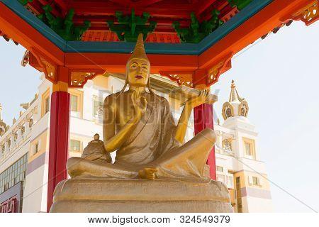 Buddhist Temple Golden Abode Of Buddha Shakyamuni In Elista, Republic Of Kalmykia, Russia, Sculpture