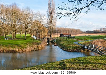 Colorful Dutch Landscape In Autumn