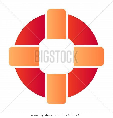 Lifebuoy Flat Icon. Life Ring Color Icons In Trendy Flat Style. Lifesaver Gradient Style Design, Des