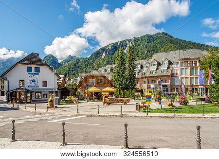 Kranjska Gora,slovenia - September 3,2019 - View At The Main Place Of Kranjska Gora. Kranjska Gora I
