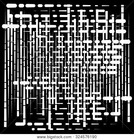 Grid, Mesh Abstract Geometric Pattern. Segmented Intersect Lines. Crossing Dynamic Stripes Texture.