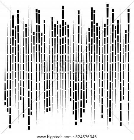 Random Segmented Lines Pattern. Dynamic Dashed, Irregular Stripes. Abstract Geometric Design