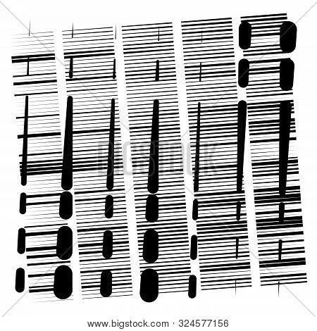 Random Grid, Mesh Pattern. Grating, Trellis Texture. Intermittent, Interrupt Lines Lattice. Intersec