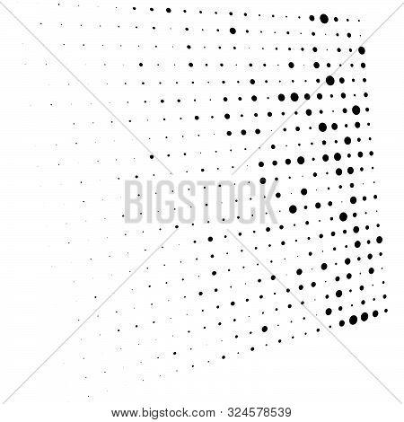 Dots, Half-tone Element. Speckle, Stipple Geometric Pattern. Circles Halftone Pattern. Polka Dots, S