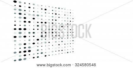 Random Greyscale, Grey Dots, Half-tone Element. Speckle, Stipple Geometric Pattern. Random Greyscale